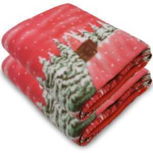2x Kuscheldecke Weihnachten 130x160 Wohndecke Fleecedecke