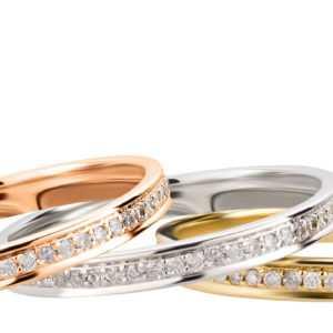 Memory Ring 585 Gold Weißgold Rosegold Diamant Eternity Vorsteckring Brillant