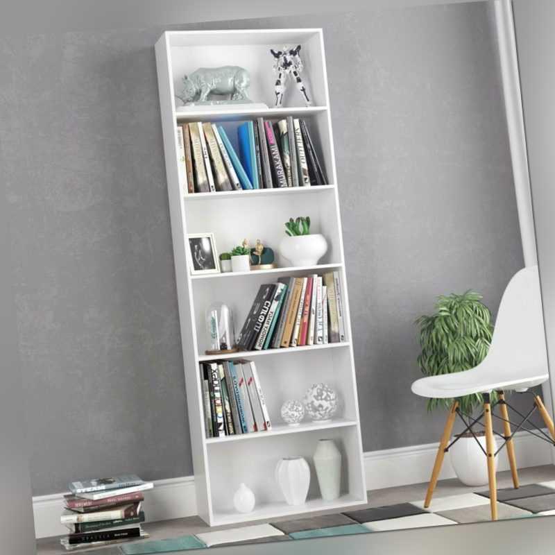 Raumteiler Bücherregal Standregal Aktenregal Raumtrenner 6 Fächer 180cm Weiß