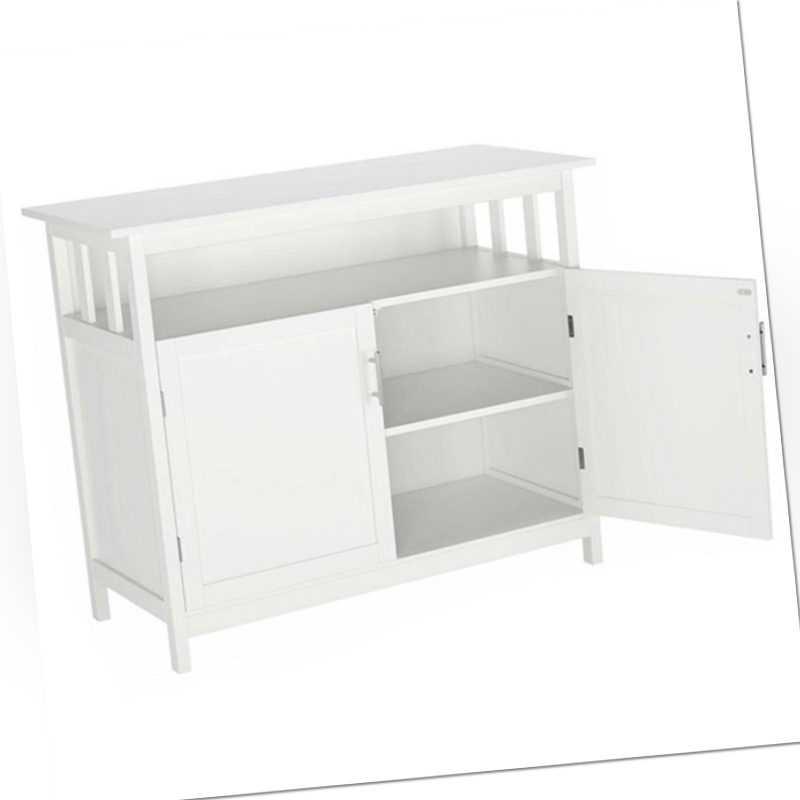 Badschrank Küchenschrank Mehrzweckschrank Sideboard Kommode Badmöbel Weiß HMD057