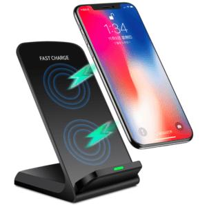 Qi Wireless Charger Ladestation Induktive SchnellLadegerät Für iPhone Samsung