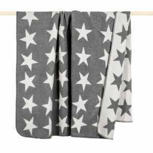 Wohndecke Stars von pad 150 x 200 cm - Wolldecke mit Sternen -