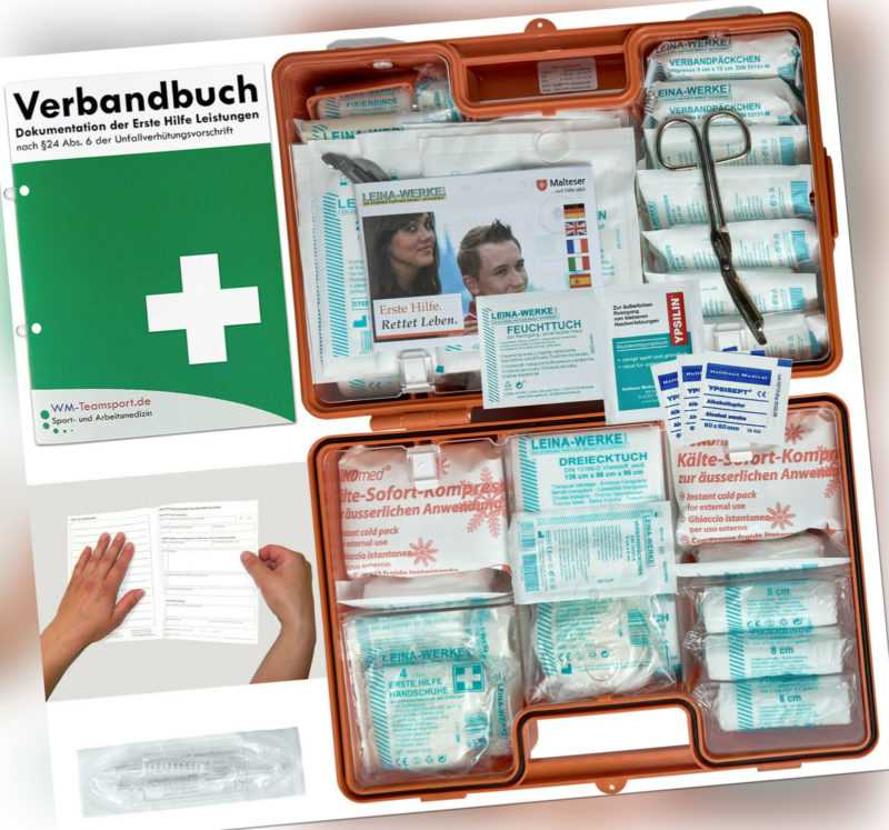 Verbandskoffer/Verbandskasten (G) -Erste Hilfe nach DIN 13169 (Betriebe) -DSGVO-