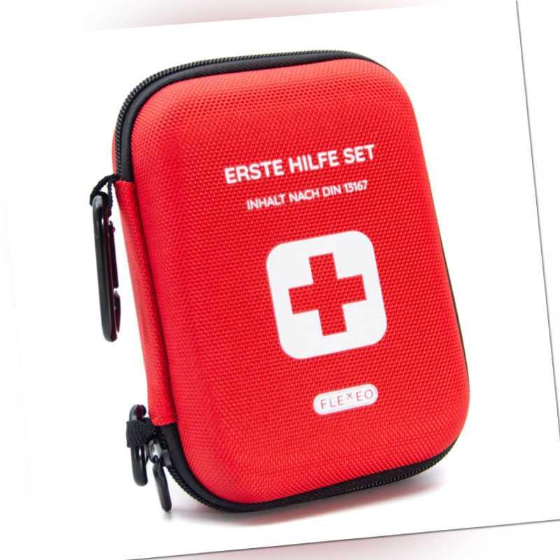 "FLEXEO Erste Hilfe Set ""Traveller"" DIN 13167 - Outdoor Wandern - Motorrad Tasche"
