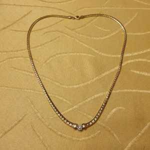 Gold Brillant Collier 585er    45,0cm