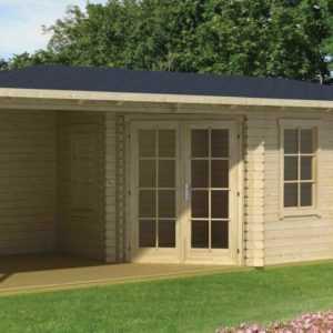 40 mm Gartenhaus Aruba 3A Gerätehaus ca. 720x320 cm Blockhaus Holzhaus Schuppen