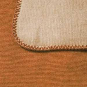 Bocasa Wohndecke Duo Cotton Melange, Farbe ocker / beige, Gr.