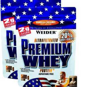 Weider Premium Whey 2x 500g Beutel (29,19€/Kg) Protein BCAA Eiweiß Shake