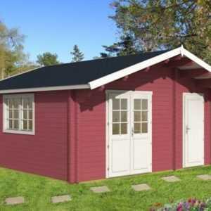 Gartenhaus Pedro 70-F 5,05 x 5,05 m Blockhaus ca. 24m² Abstellraum Hütte