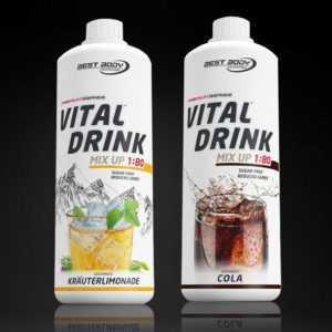 9,98€ /Ltr. Best Body Low Carb Vital Drink 2 x 1 Ltr Mineraldrink Sirup Aktion !