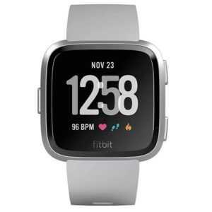 Fitbit Versa Health u Fitness Smartwatch silber Wasserabweisend WLAN Bluetooth
