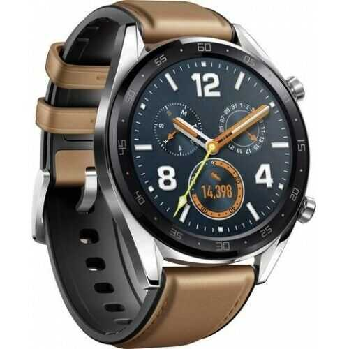 Huawei Watch Classic GT-B19V Smartwatch saddle brown Edelstahl Fitnesstracker