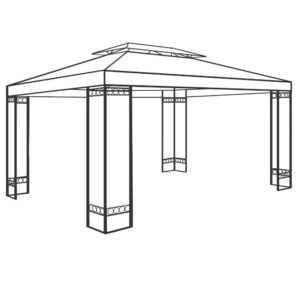DEUBA® Stahl Gestänge Pavillon ELDA 4x3m Pavillion Garten Pavilion Zeltgestänge