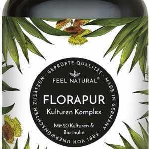 Florapur Kulturen Komplex - 20 Bakterienkulturen & Bio Inulin - 180 vegane