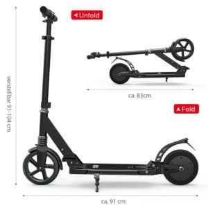 Faltbar Elektroroller E-Scooter Elektro Scooter City Roller 12km/h 150W