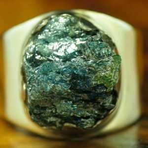925 Sterling Silber Ring mit Korund Besatz / Echtsilber / 7,6g / RG 56