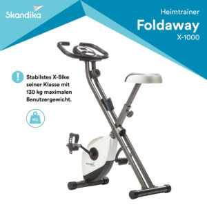 skandika Foldaway X-1000 Fitnessbike zusammenklappbar weiß Handpulssensoren NEU