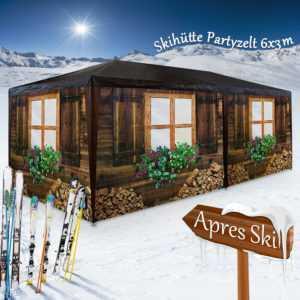 Pavillon 3x6 m Partyzelt Festzelt Almhütte Gartenzelt Bierzelt Zelt Apres Ski