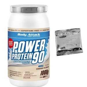 (25,90 Euro/Kg) Body Attack Power Protein 90 1000g 1Kg  + Produktprobe gratis