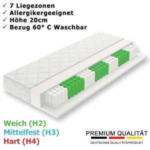 Matratze Taschenfederkern 7 Zonen H2 H3 H4 90x200 140x200 160x200 Orthopädisch