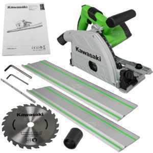 Kawasaki Tauchsäge K-TRS 1200-56 Handkreissäge inkl 2x Führungsschiene Sägeblatt