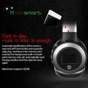Stereo Bluetooth Headphone Wireless Headset Foldable Support Micro SD Card AHS