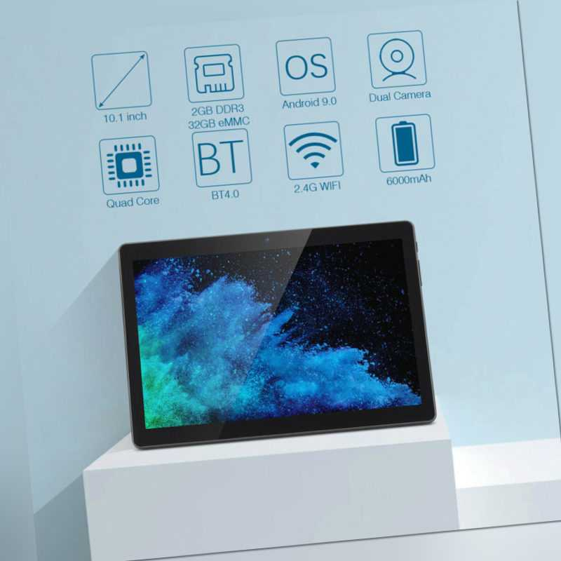 Zonko K105 3G TABLET PC 10.1 zoll Android 9.0 A7 2GB+ 32GB BT4.0 Dual Camera EU