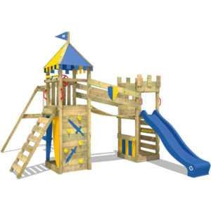 WICKEY Spielturm Klettergerüst Smart Fort Garten Kletterturm Sandkasten Rutsche