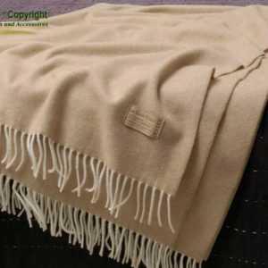 Wollplaid, Wolldecke aus 20% Kaschmir und 80% Merinolammwolle