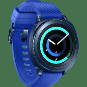 Samsung Gear Sport Hybrid Band 44.6mm Gehäuse mit Klassisches Armband in Blau