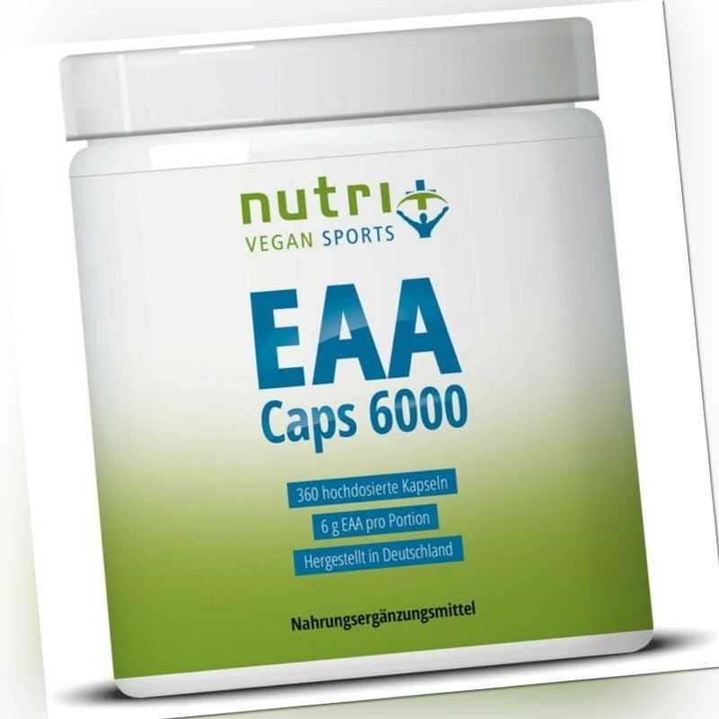 EAA Kapseln 6000 - HOCHDOSIERT - Protein - Essentielle Aminosäuren inkl. BCAA