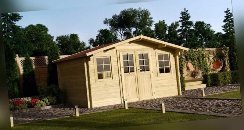 34mm Gartenhaus 500x500 cm Gerätehaus Holzhaus Holz Blockhaus Schuppen Hütte Neu
