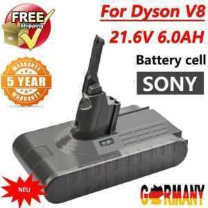 DE 21.6V 6000mAh Akku Für Dyson V8 Absolute Staubsauger Sony Cell Li-ion Battery