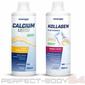 (12,50€/L) Energybody 1x Kollagen + 1x Calcium Liquid Vitamine Stevia Fitness