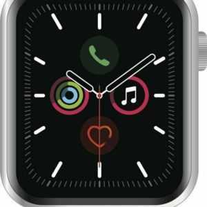 Apple Watch Series 5 GPS 44 mm Alu silver, Sport white