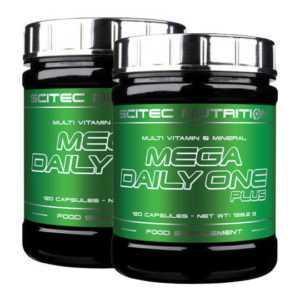 2x Scitec Nutrition Mega Daily One Plus 120 Kapseln (240 Kapseln)