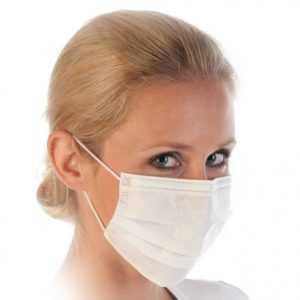 1 - 100 Stück Mundschutz mit Gummiband und Nasenbügel 2lagige Schutz Maske