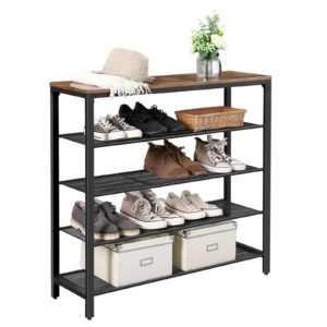 Schuhschrank Schuhregal Schuhablage mit 4 Ebennen Schuhaufbewahrung LBS15BX