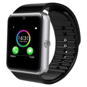 YAMAY Bluetooth Smartwatch Fitness Uhr Intelligente Armbanduhr Silber
