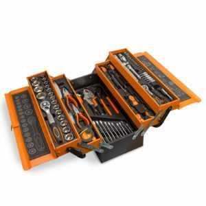 Werkzeugkasten Werkzeugkoffer Werkzeugkiste Werkzeugbox inkl. Werkzeug 85 teilig