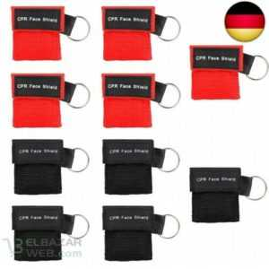 Denavo Beatmungsmaske, CPR Maske Schlüsselanhänger 10 Stücke RESPI-Key mit Rü