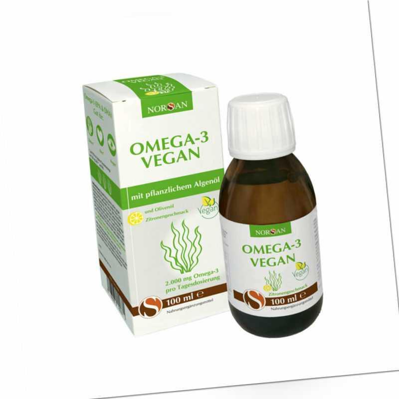 Norsan Omega-3 Vegan - 100 ml - Zitronengeschmack EPA DHA DPA Fettsäuren Algenöl