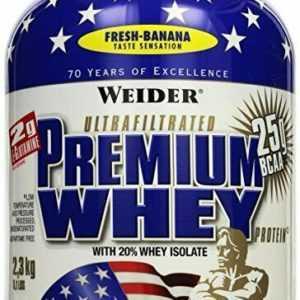 Weider Premium Whey 2,3kg Dose Fresh Banana MHD 05.2020 Aktion (18,69€/Kg)