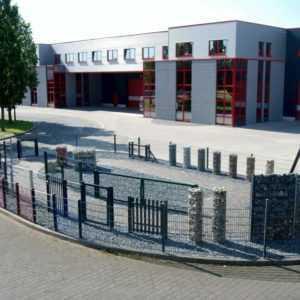 Doppelstabmattenzaun Gittermatten Industriezaun H 830mm bis 1830mm 7016