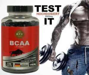 BCAA 120 Stk 5000mg-Muskelaufbau-Protein-Eiweiß-Diät-Anabolika-Steroide-Abnehmen