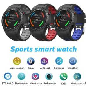 SMA-M1 Smart Watch Bluetooth Herzfrequenz-Schlafmonitor Fitness Kompass Sport