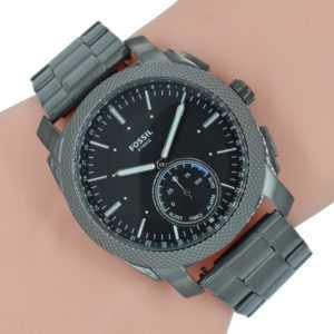 FOSSIL Q Herren Uhr Military Hybrid Smartwatch FTW1166 Machine Android iOS Grau