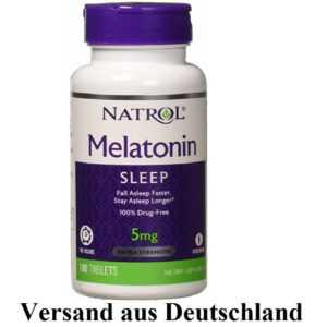 MELATONIN NATROL 5 mg 100 Vege Tabl mit Vitamin B6  Time Release  Entspannung