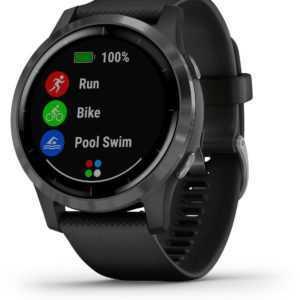 Garmin vivoactive 4 Schwarz/Schiefergrau GPS-Fitness-Smartwatch BRANDNEU