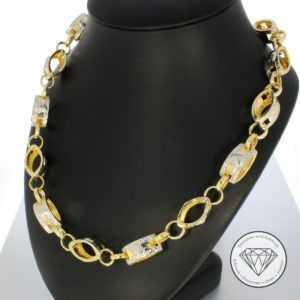 SONDERAKTION WERT 2.000,- Medusa 585 | 14 Karat Gold Collier Kette 67cm